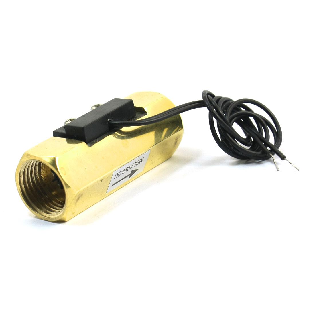 DC250V Brass G1/2 Inner Threaded Magnetic Water Flow Switch Flowmeter 1-30L/min