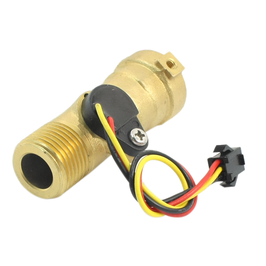 1-30L/min G1/2 Threaded Brass Body Wired Hall Sensor Luquid Water Flow Meter Flowmeter