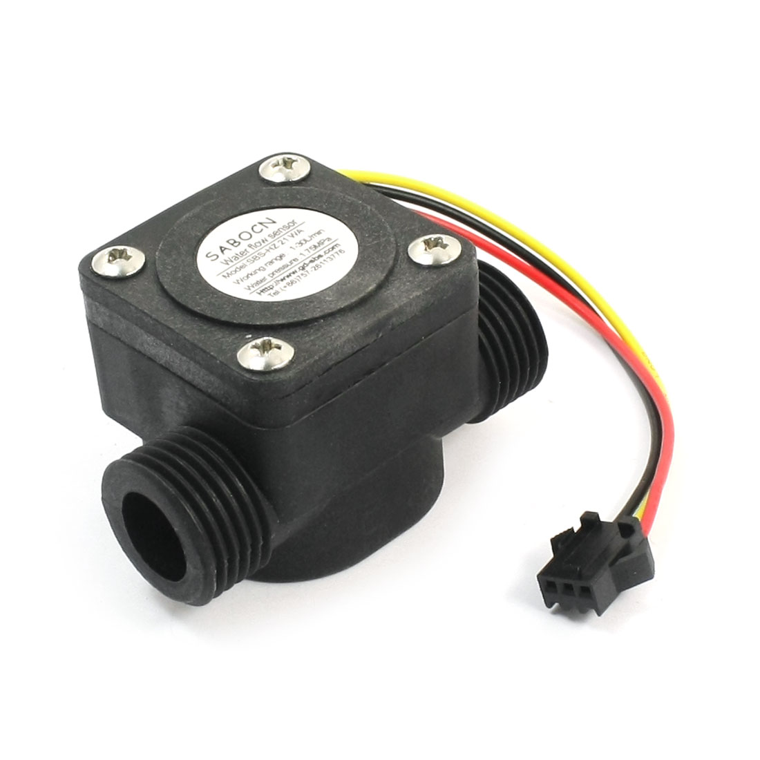 G1/2 Water Flow Hall Effect Sensor Flowmeter Counter 1-30L/min 1.75Mpa