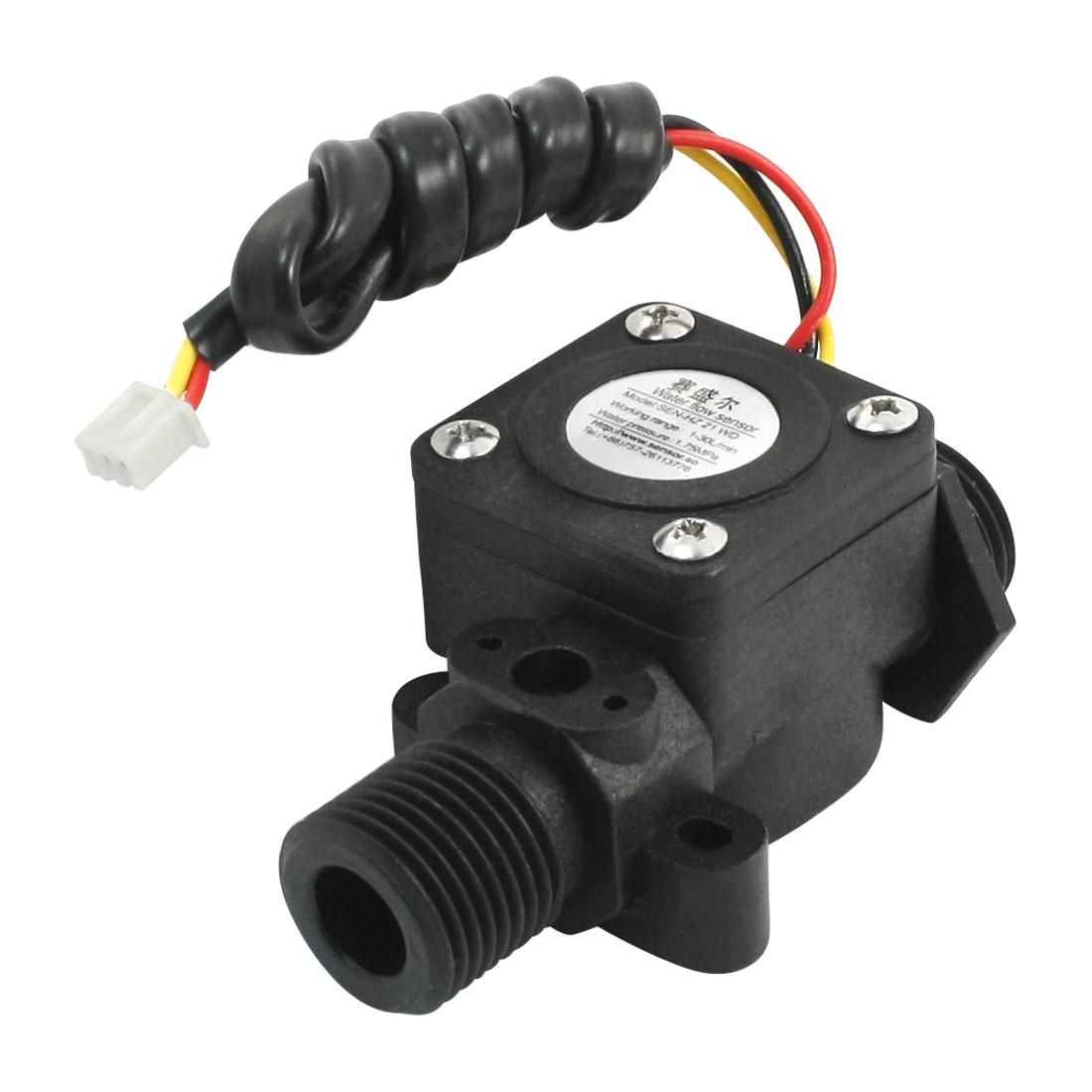 SEN-HZ21WD G1/2 Port 1.75Mpa Hall Flow Sensor Water Control Flowmeter 1-30L/min