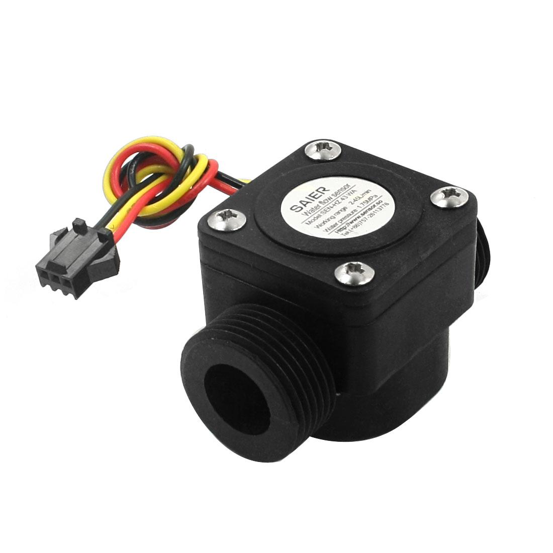 SEN-HZ43WA G3/4 Threaded Hall Flow Sensor Water Control Flowmeter 2-45L/min