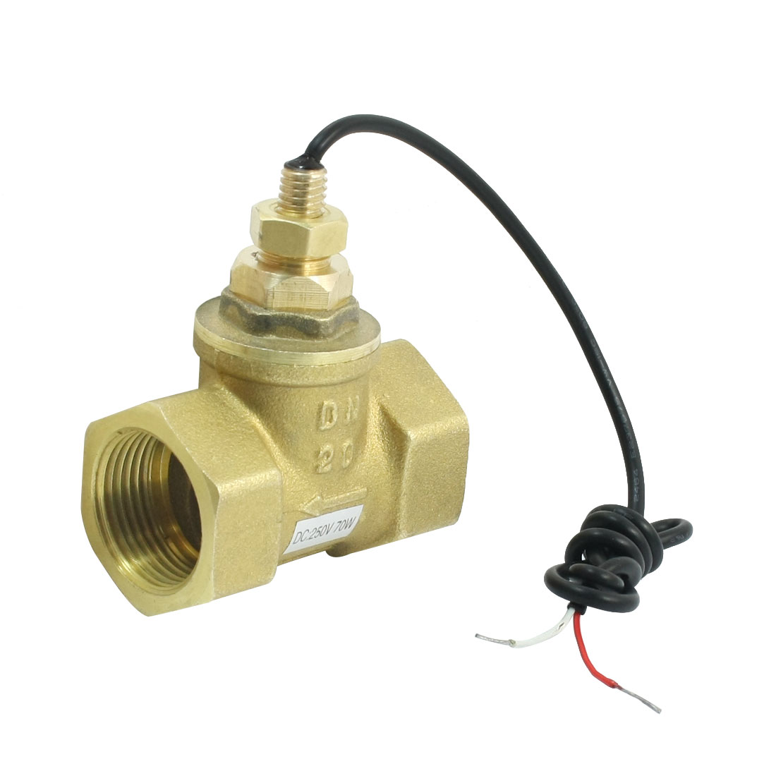 1-30L/Min 10mA 70W 3/4PT Female Port Thread Brass Piston Flow Sensor Switch Flowmeter