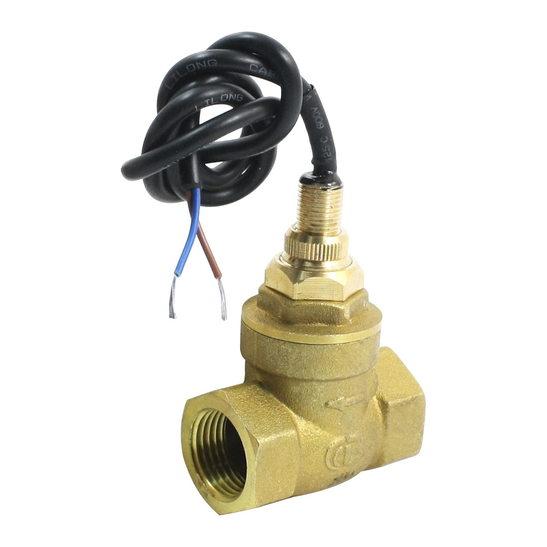 SEN-DB15 1/2PT Female Thread Brass Paddle Type Water Flow Sensor Switch Flowmeter 1-30L/Min 70W