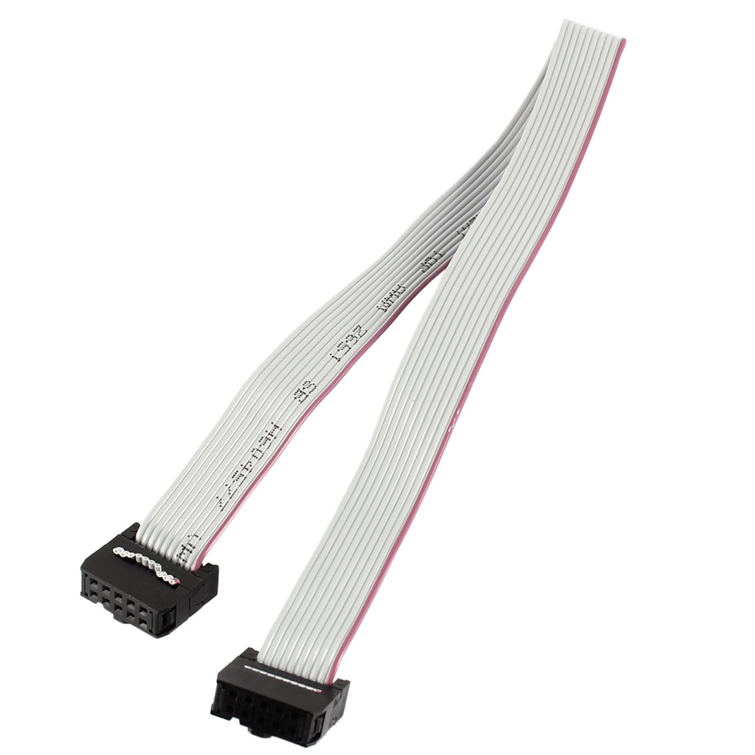 Black Gray 2.54mm Pitch 10Pin F/F IDC Connector Flat Ribbon Cable 30cm 12-inch