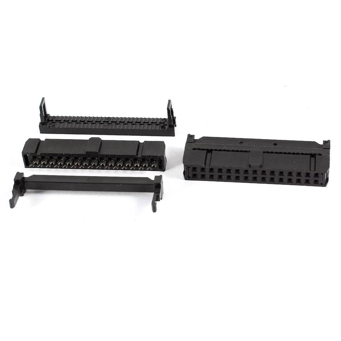 2 x Ribbon Cable FC-30P 30Pin 2.54mm Pitch ISP 3 in 1 Set JTAG Socket Connectors