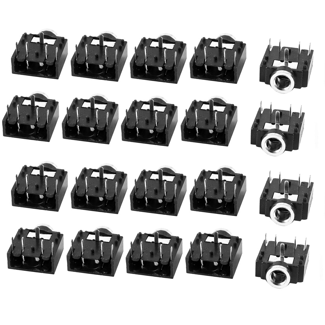 "20 Pcs 3.5mm 1/8"" Stereo Audio Socket Cell Phone Jack Connector 5-Pin PCB Mount"