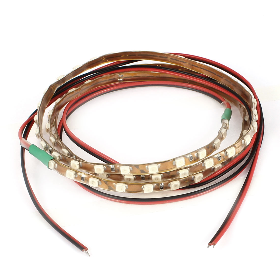 2pcs Green 90 LED 1210 3528 SMD Vehicle Car Flexible Light Strip Decoration 90cm Internal