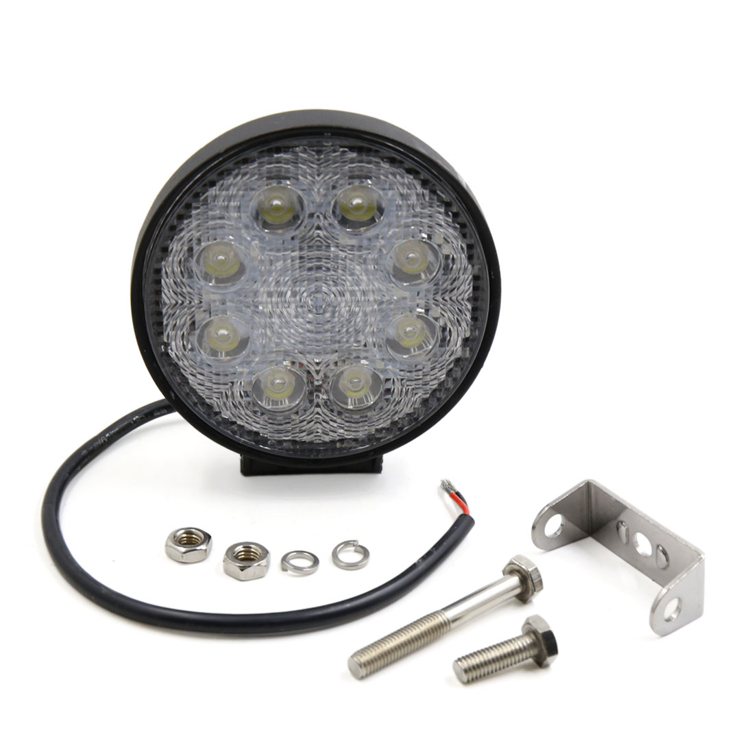DC 12V 24W Round Flood Beam 8 LED Work light Fog Driving Lamp for Auto Car Internal