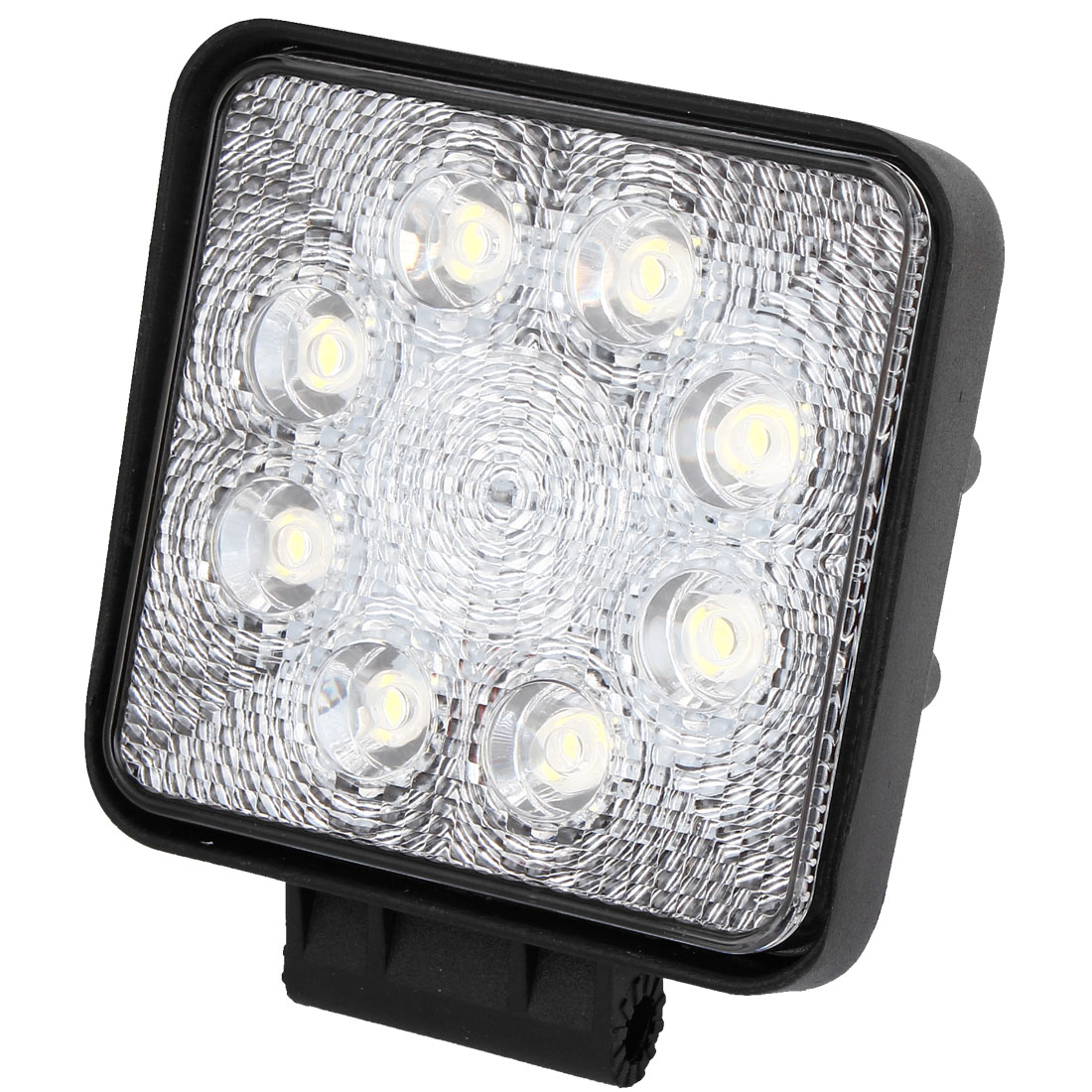 Black Metal Shell Square 24W White 8 LED Flood Beam Work Light Driving Lamp Offroad SUV ATV