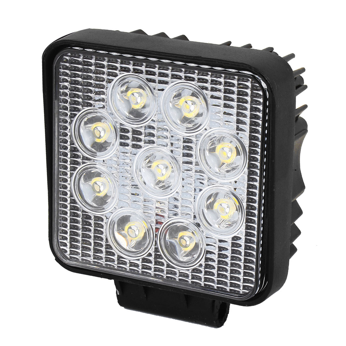 DC 12V 27W Black Metal Shell White 9 LED Working Light Offroad Spot Beam Lamp for Car Truck