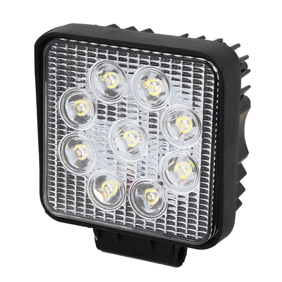 DC 12V 27W Black Metal Shell White 9 LED Working Light Offroad Spot Beam Lamp for Car Truck