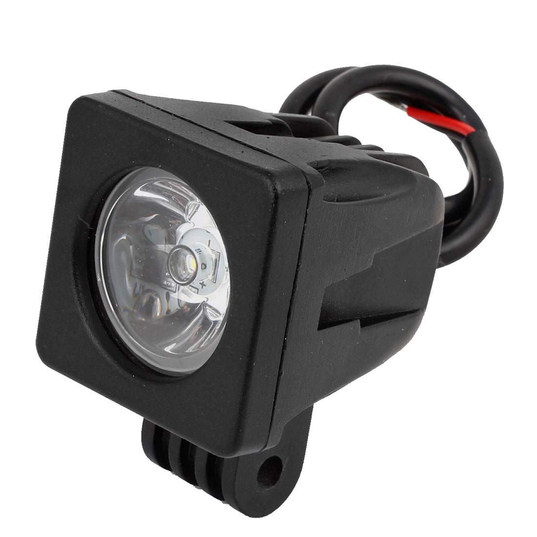 DC 12V 12W Black Metal Square Shaped White LED Work Light Spot Beam Driving Lamp Offroad ATV SUV