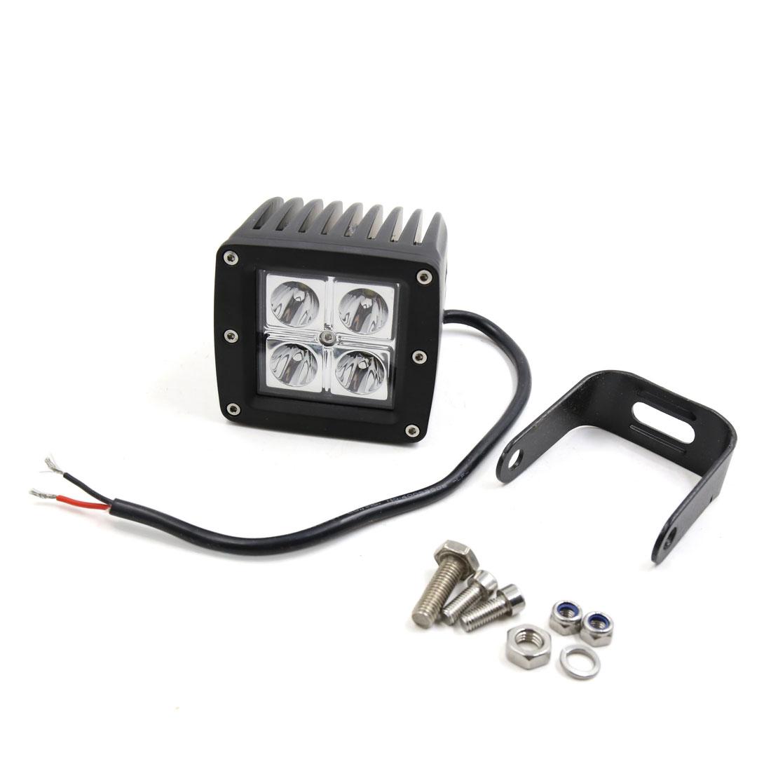 10W 12V Car Truck White 4 LED Bulb Spotlight Working Lamp Light Internal