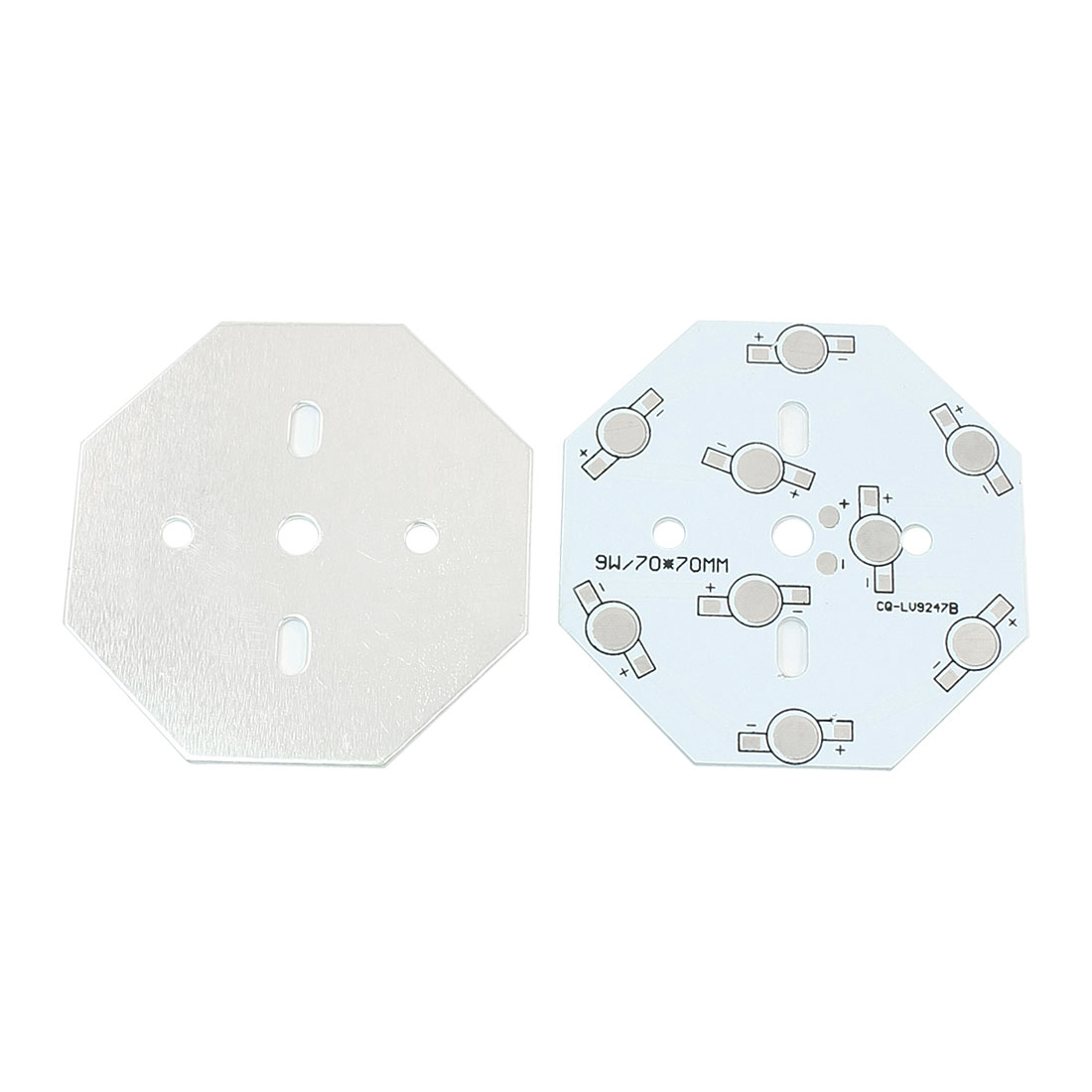 2pcs 70mm x 70mm Octangle Aluminum PCB Printed Circuit Board for 1W/3W High Power 9LEDs in Series