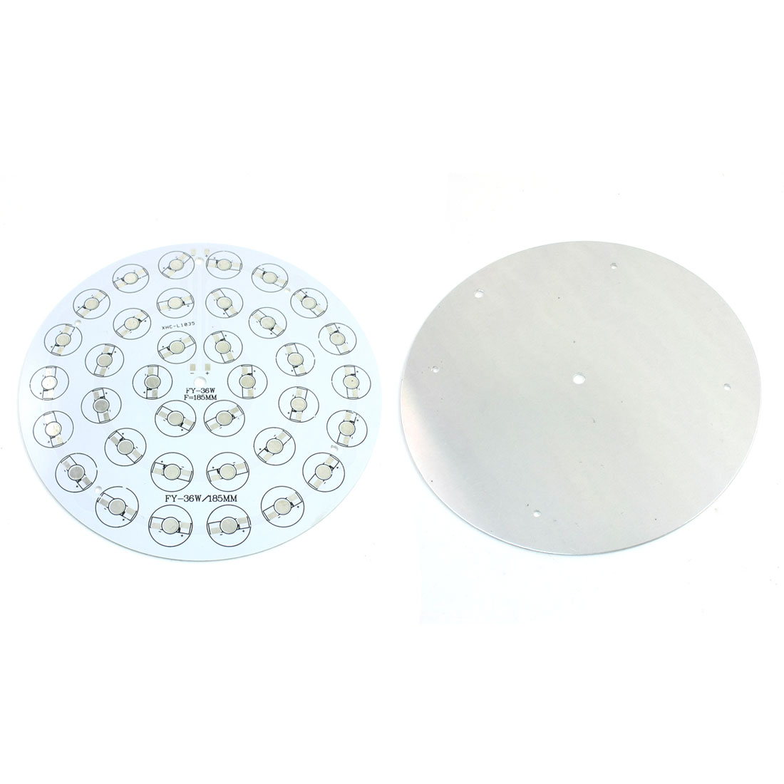 2Pcs 36 x 1W 3W LED High Power Circle Aluminum PCB Circuit Board 185mm Diameter