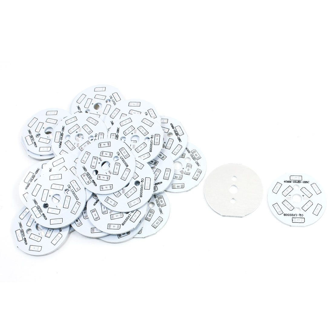 30Pcs 10 x 1/2W 5730 SMD LED High Power DIY Circle Aluminum PCB Circuit Board 40mm Diameter
