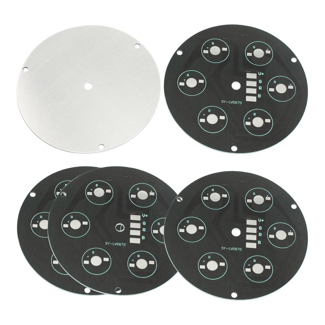 5 PCS 10cm Diameter 7.9cm Hole Distance Circle Aluminum PCB Circuit Board for 6 x 1W/3W/5W High Power RGB LEDs Bulb