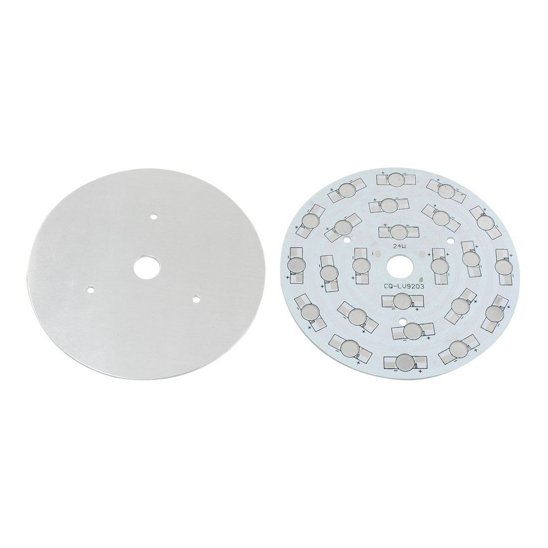 2Pcs High Power 24 x 1W 3W LED DIY Aluminum PCB Circuit Board 108mm Diameter