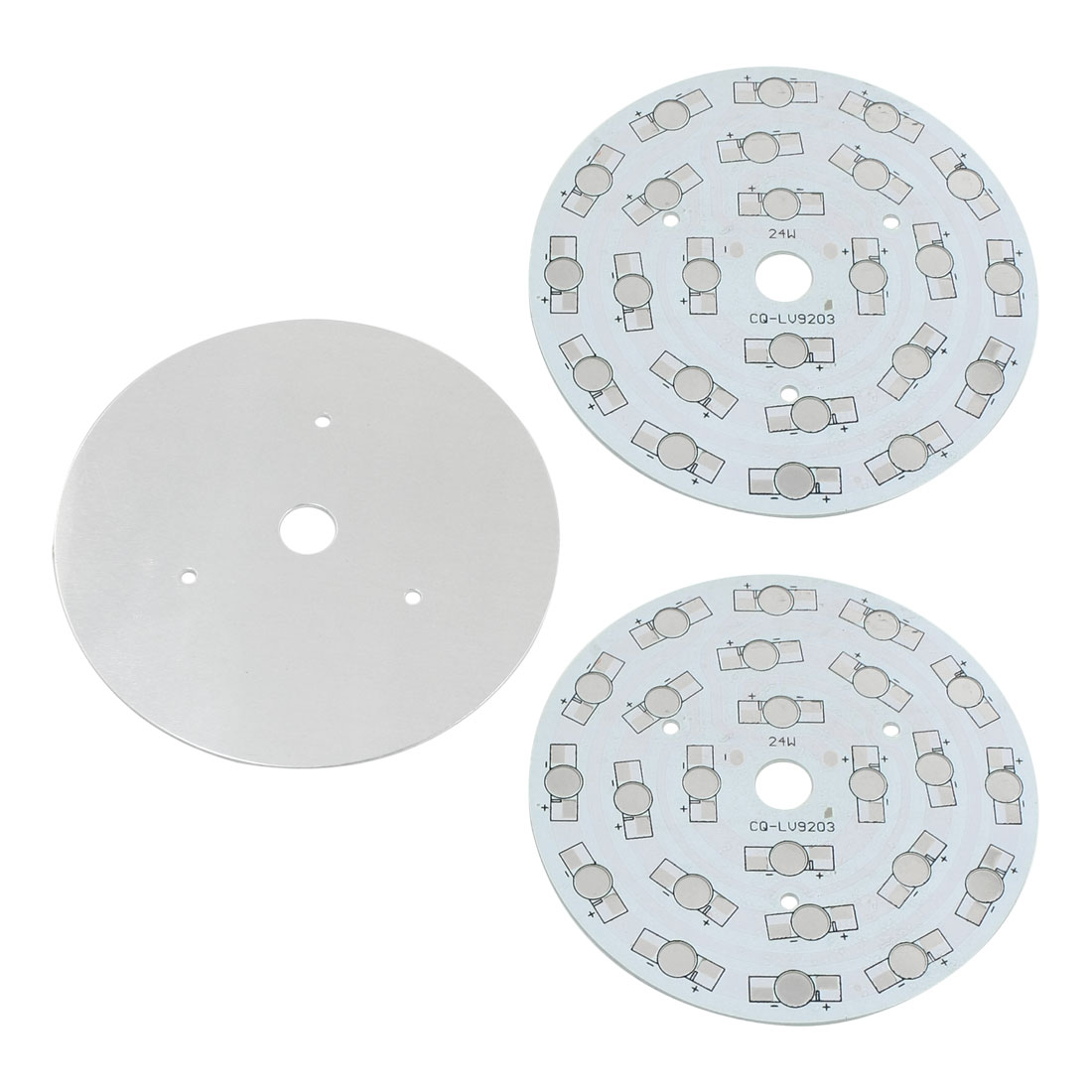 3Pcs 24 x 1W 3W LED High Power DIY Circle Aluminum PCB Circuit Board 108mm Diameter