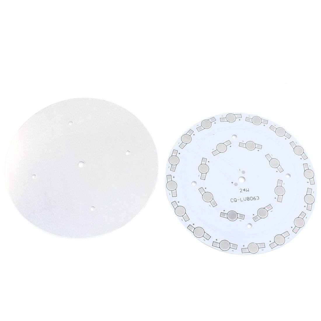 2Pcs 24 x 1W 3W LED in Series DIY Aluminum PCB Circuit Board 118mm Diameter