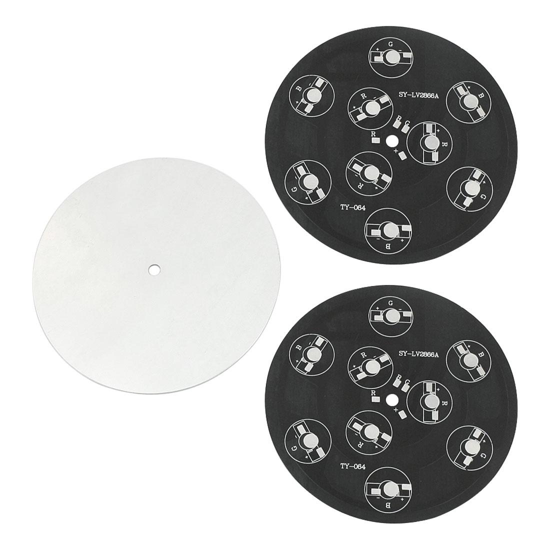 3 PCS 112mm Dia Round Aluminum PCB Circuit Board for 9 x 1W/3W/5W RGB LEDs Bulb Light