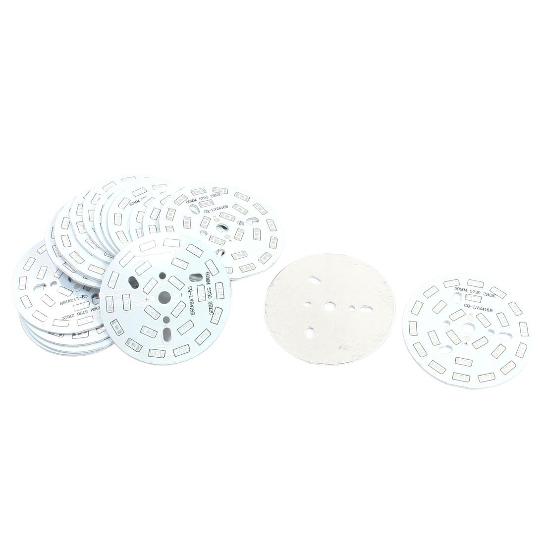 20Pcs 24 x 1/2W 5730 SMD LED High Power DIY Circle Aluminum PCB Circuit Board 60mm Diameter