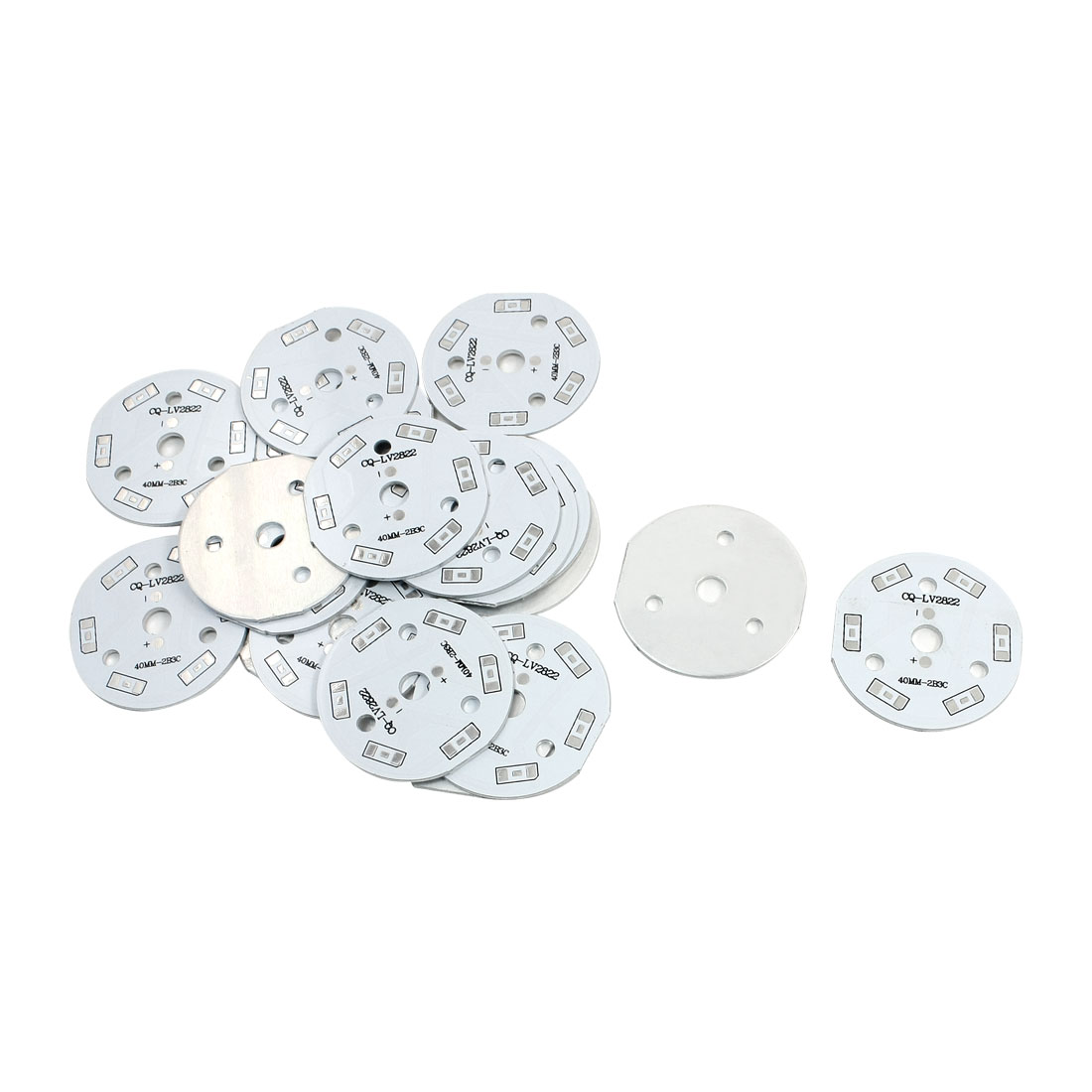 20Pcs 6 x 1/2W 5730 SMD LED High Power DIY Circle Aluminum PCB Circuit Board 40mm Diameter