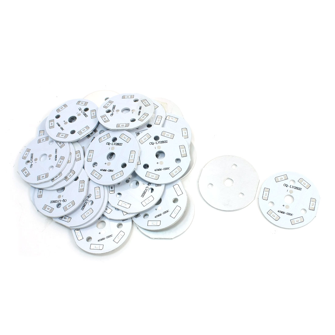 30Pcs 6 x 1/2W 5730 SMD LED High Power DIY Circle Aluminum PCB Circuit Board 40mm Diameter
