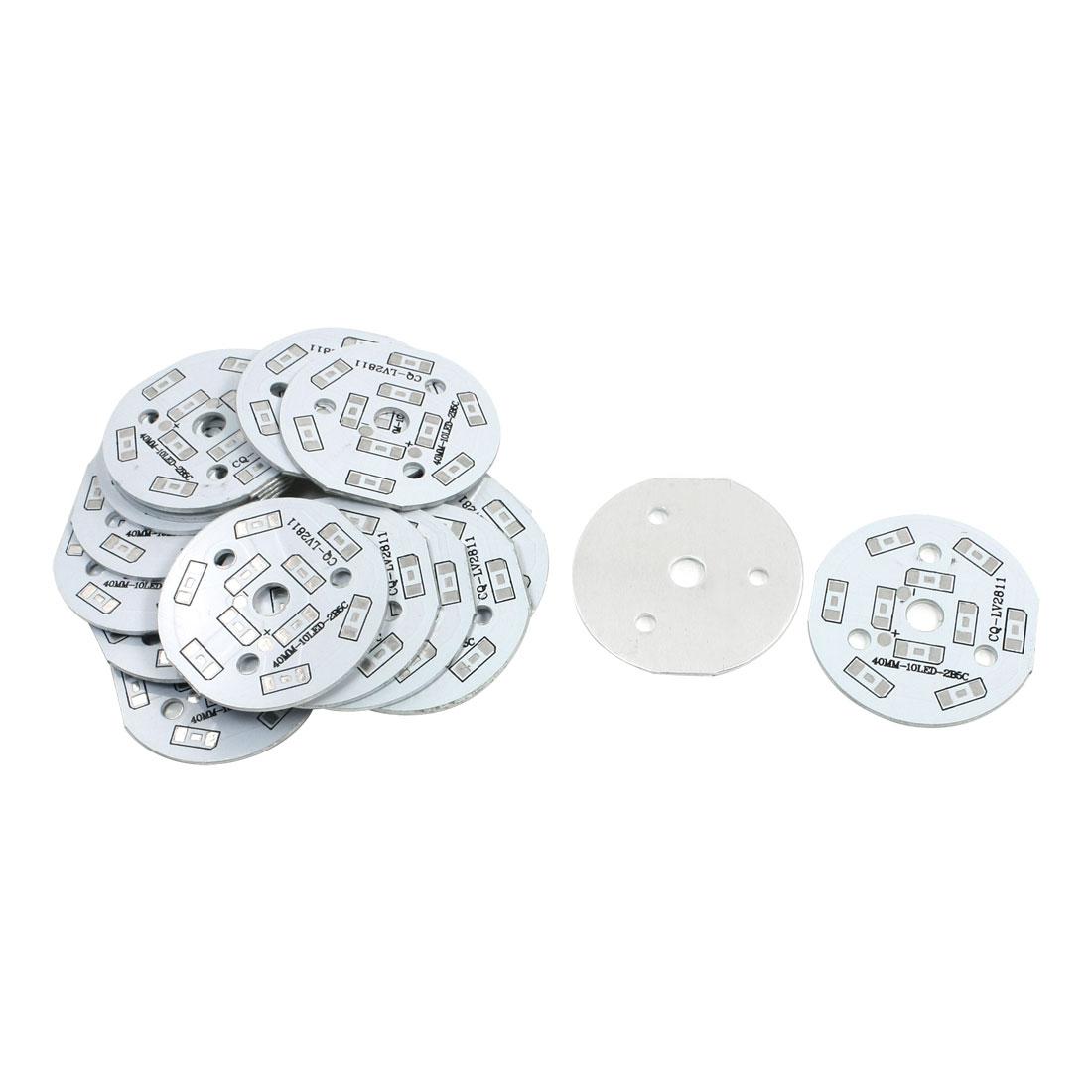20Pcs 10 x 1/2W 5730 SMD LED High Power DIY Circle Aluminum PCB Circuit Board 40mm Diameter