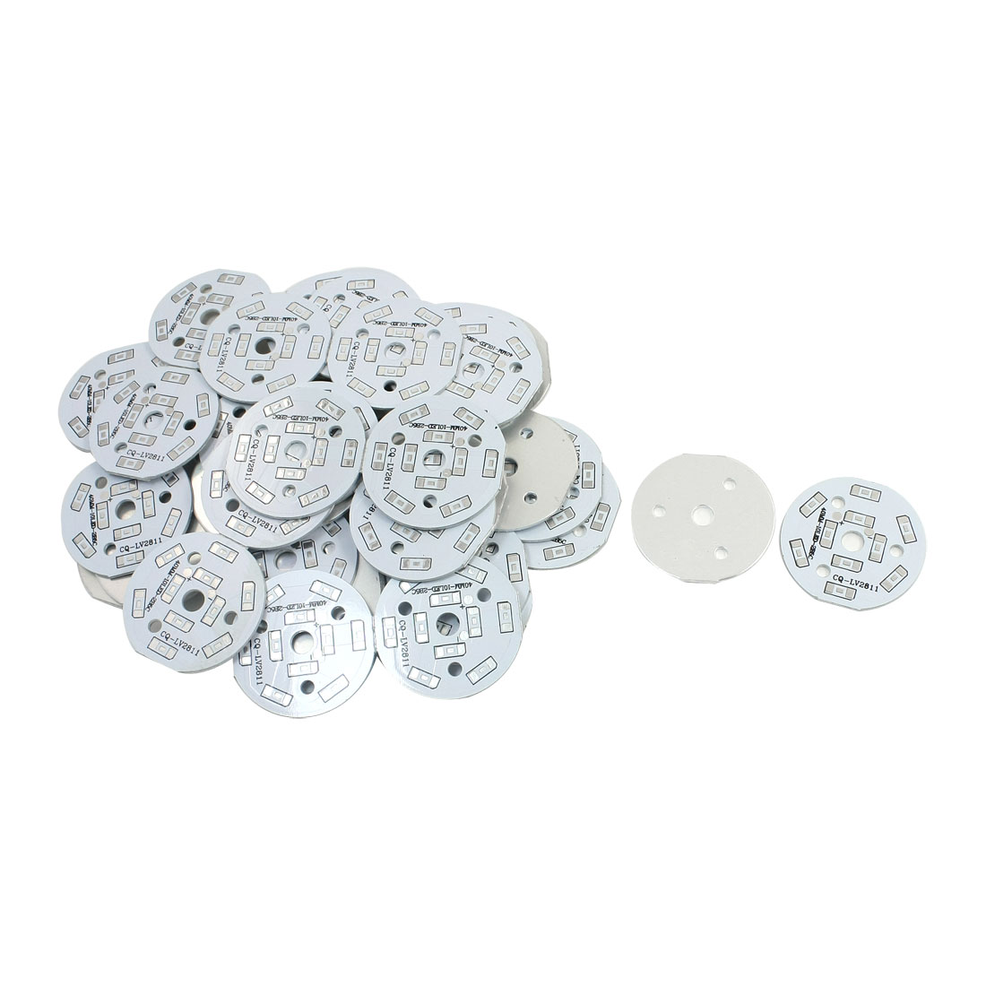 50Pcs 10 x 1/2W 5730 SMD LED High Power DIY Circle Aluminum PCB Circuit Board 40mm Diameter
