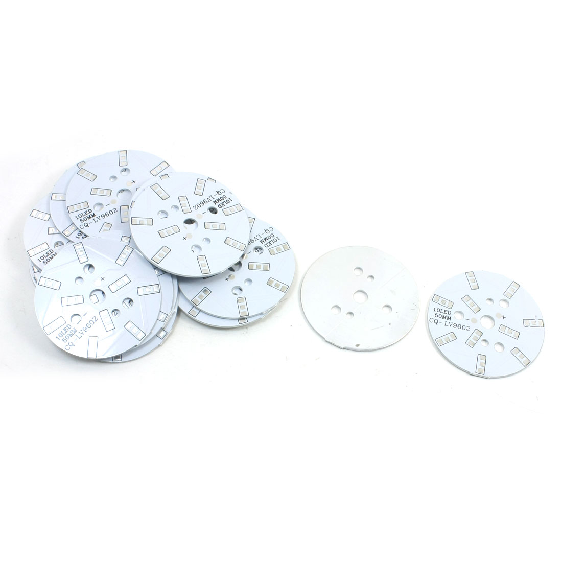20Pcs 10 x 1/2W 5730 SMD LED High Power DIY Circle Aluminum PCB Circuit Board 50mm Diameter