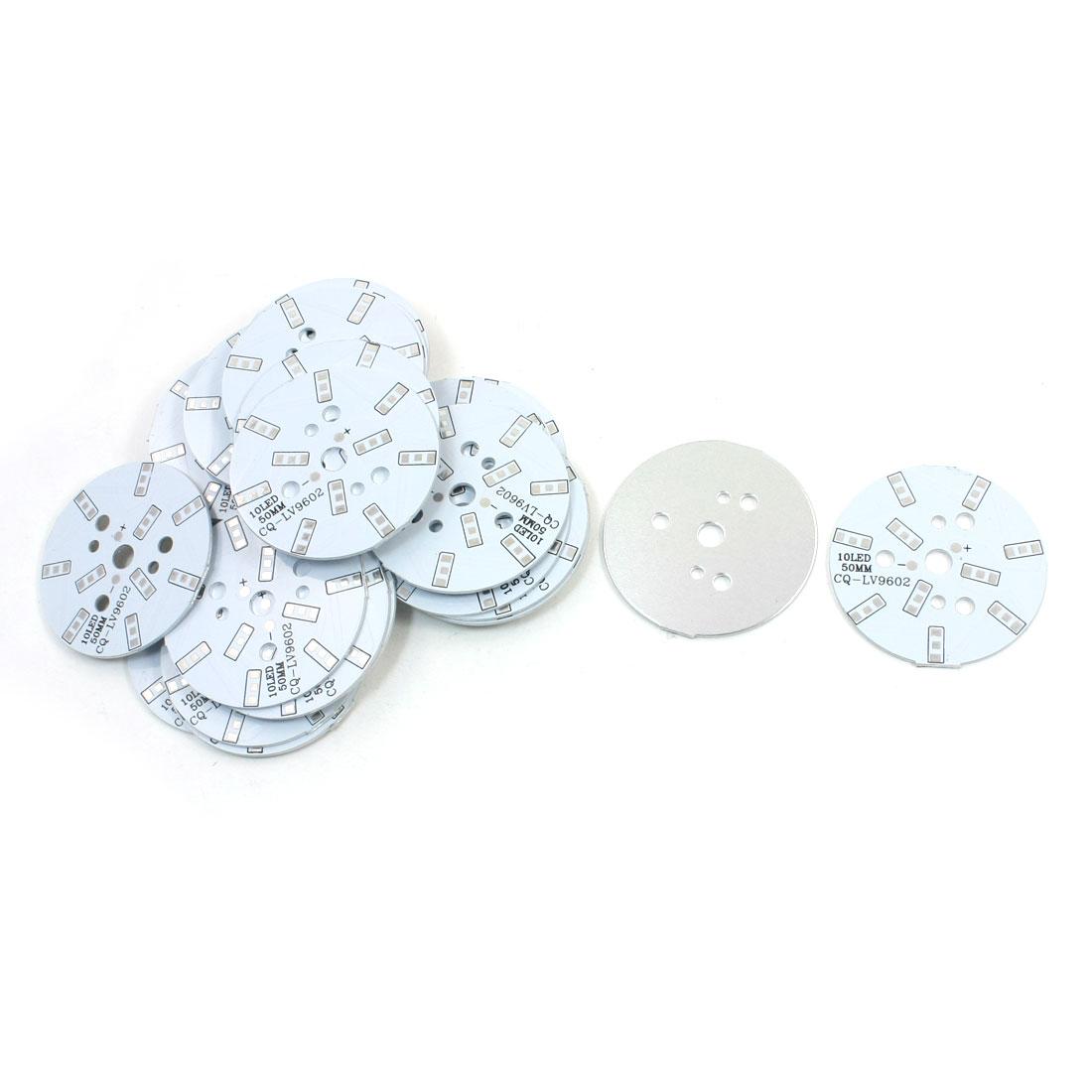 30Pcs 10 x 1/2W 5730 SMD LED High Power DIY Circle Aluminum PCB Circuit Board 50mm Diameter