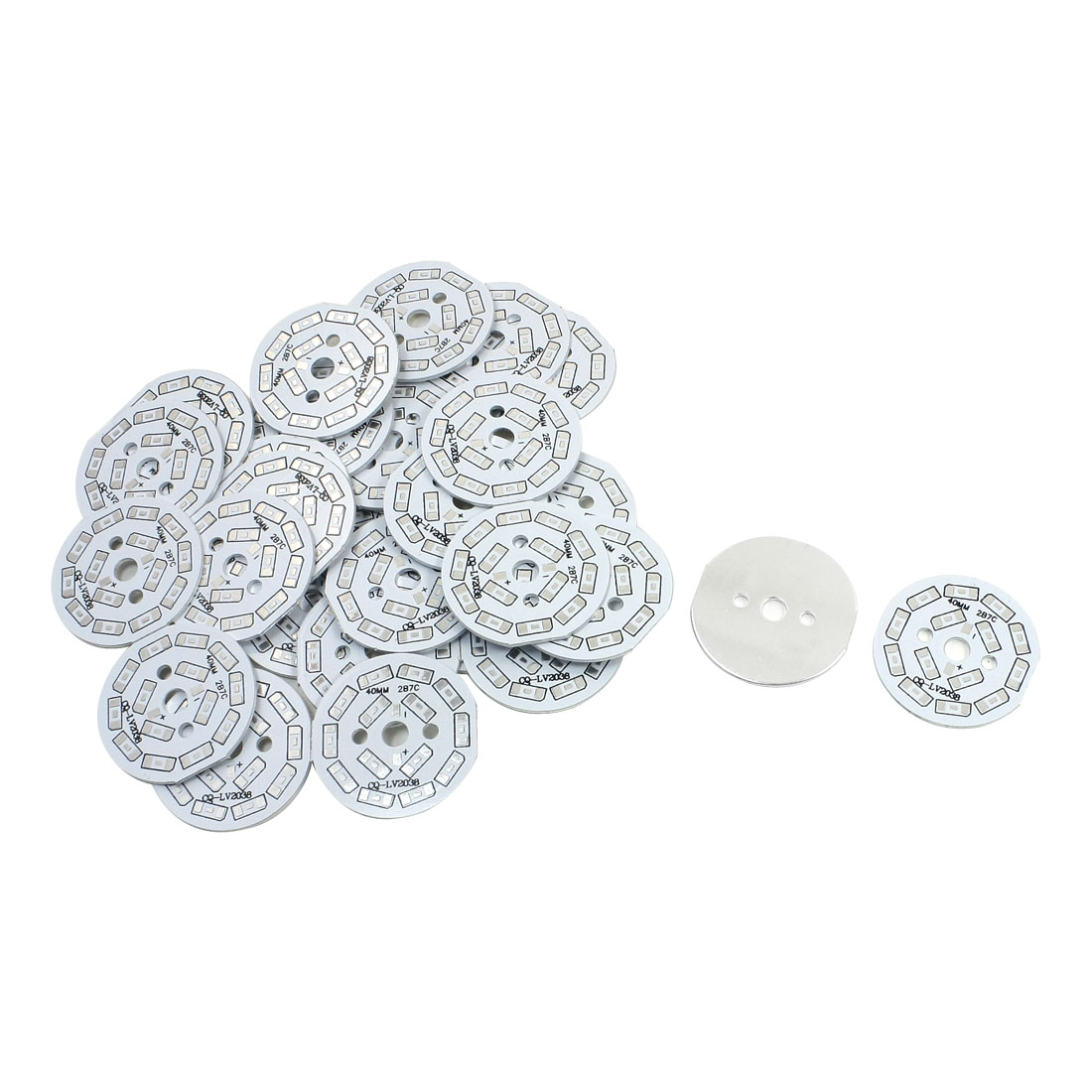 30Pcs 14 x 1/2W 5730 SMD LED High Power DIY Circle Aluminum PCB Circuit Board 40mm Diameter