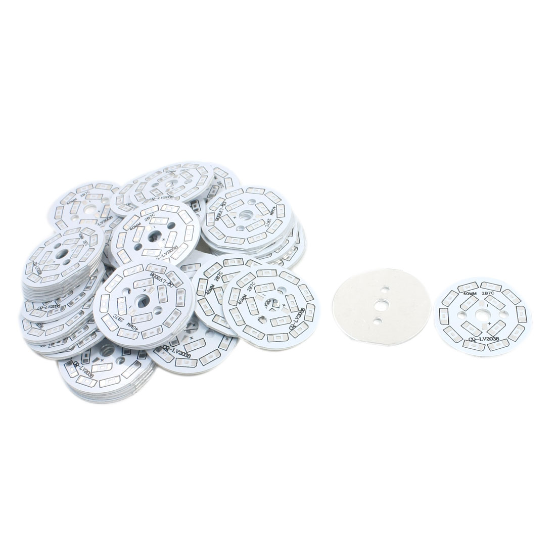 50Pcs 14 x 1/2W 5730 SMD LED High Power DIY Circle Aluminum PCB Circuit Board 40mm Diameter