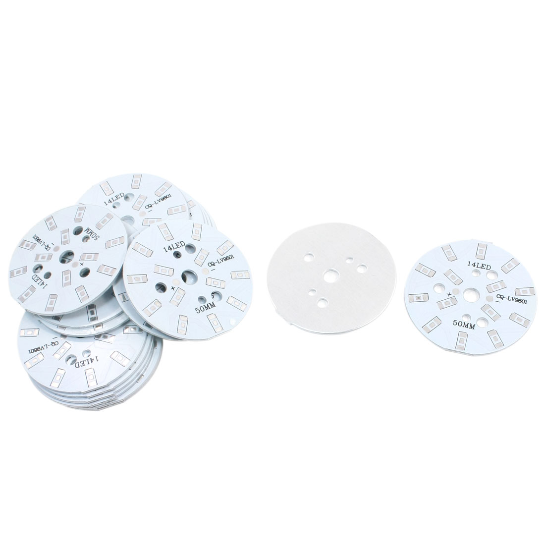 20Pcs 14 x 1/2W 5730 SMD LED High Power DIY Circle Aluminum PCB Circuit Board 50mm Diameter