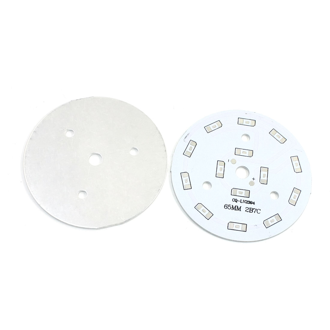 2Pcs 14 x 1/2W 5730 SMD LED High Power DIY Circle Aluminum PCB Circuit Board 65mm Diameter