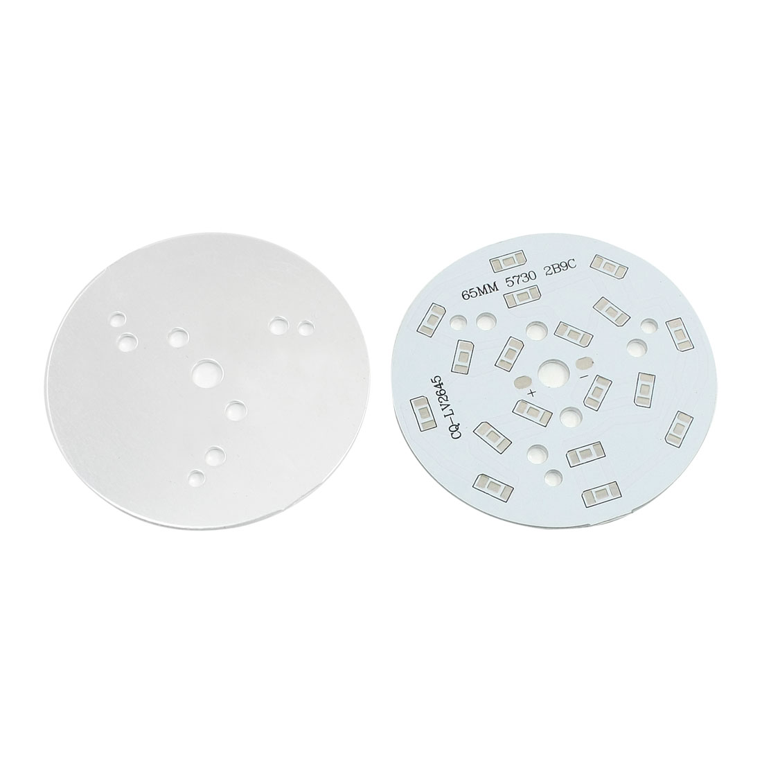 2Pcs 18 x 1/2W 5730 SMD LED High Power DIY Circle Aluminum PCB Circuit Board 65mm Diameter