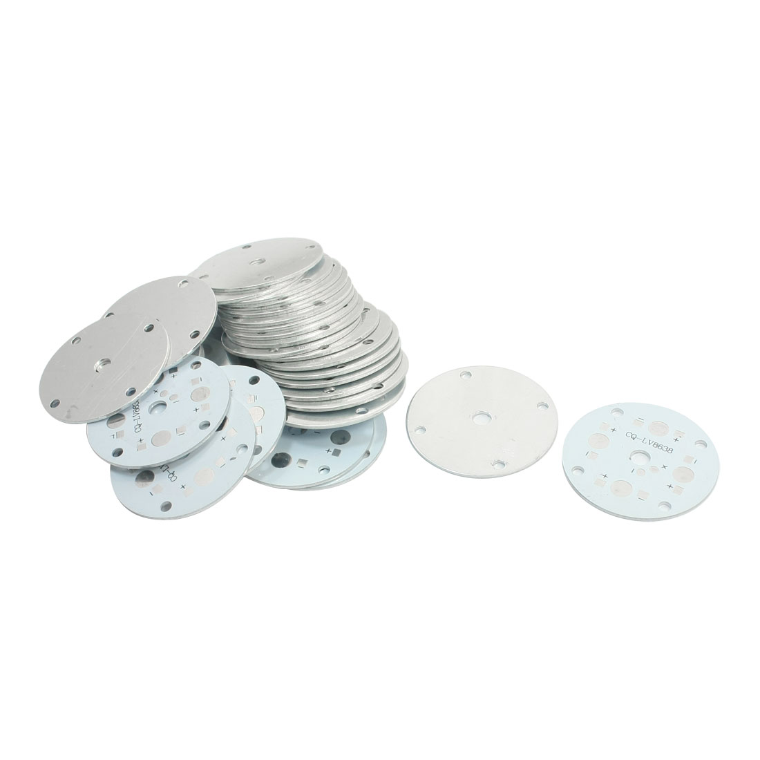 30pcs 4.8cm Round Aluminum PCB Circuit Board DIY for 1W/3W High Power 4LED Bulb in Series