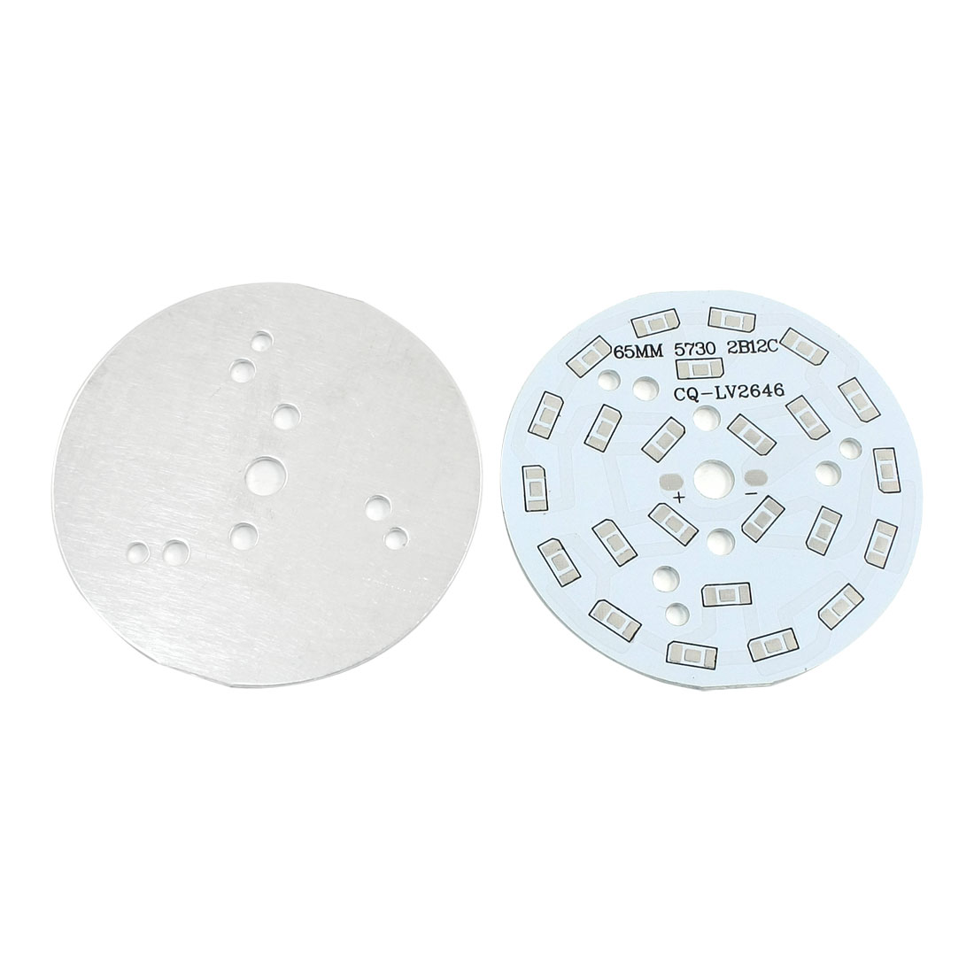 2Pcs 24 x 1/2W 5730 SMD LED High Power DIY Circle Aluminum PCB Circuit Board 65mm Diameter