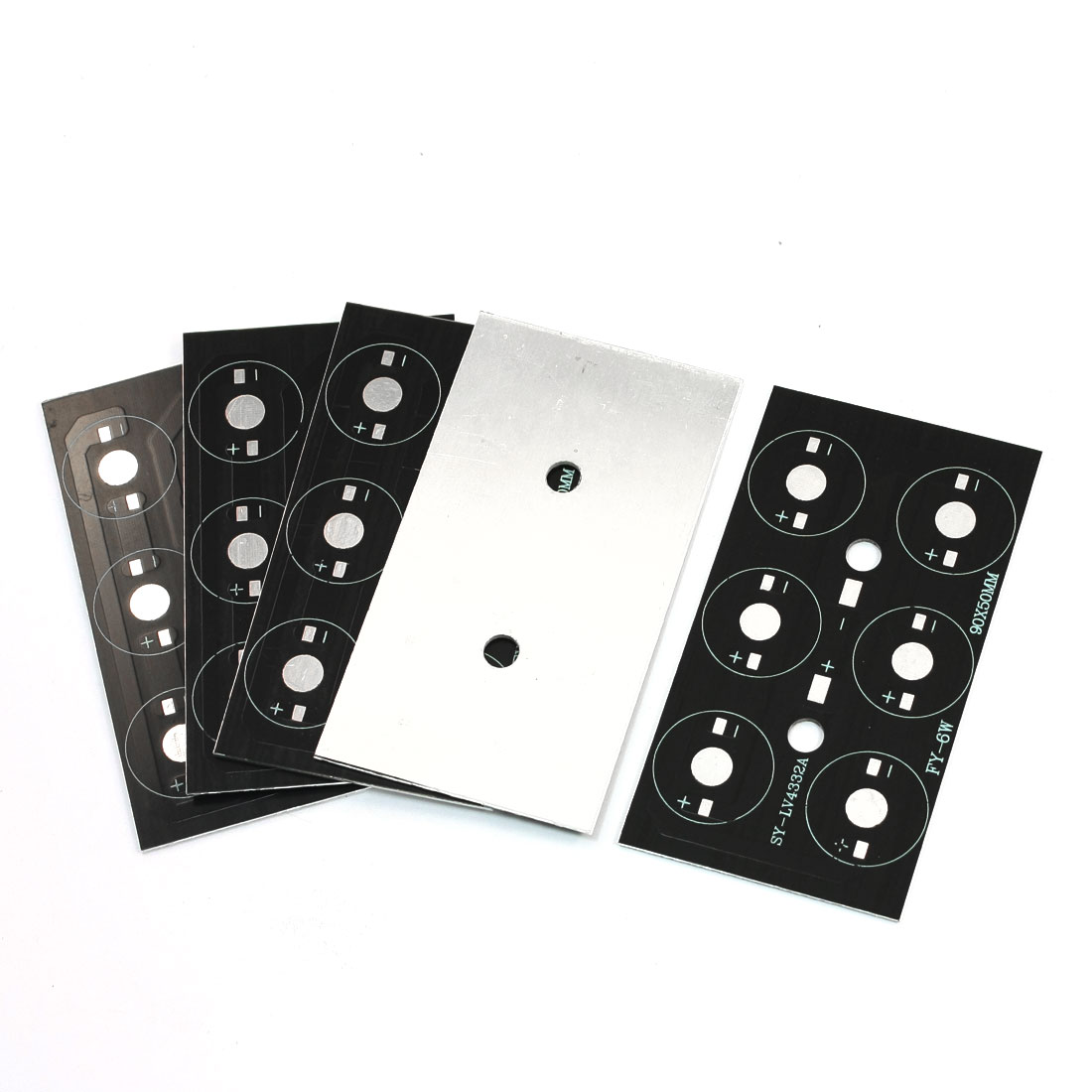 5 Pcs 9cm x 5cm Rectangular Aluminum Plate PCB Circuit Board DIY for 1W/3W High Power 6LEDs in Series