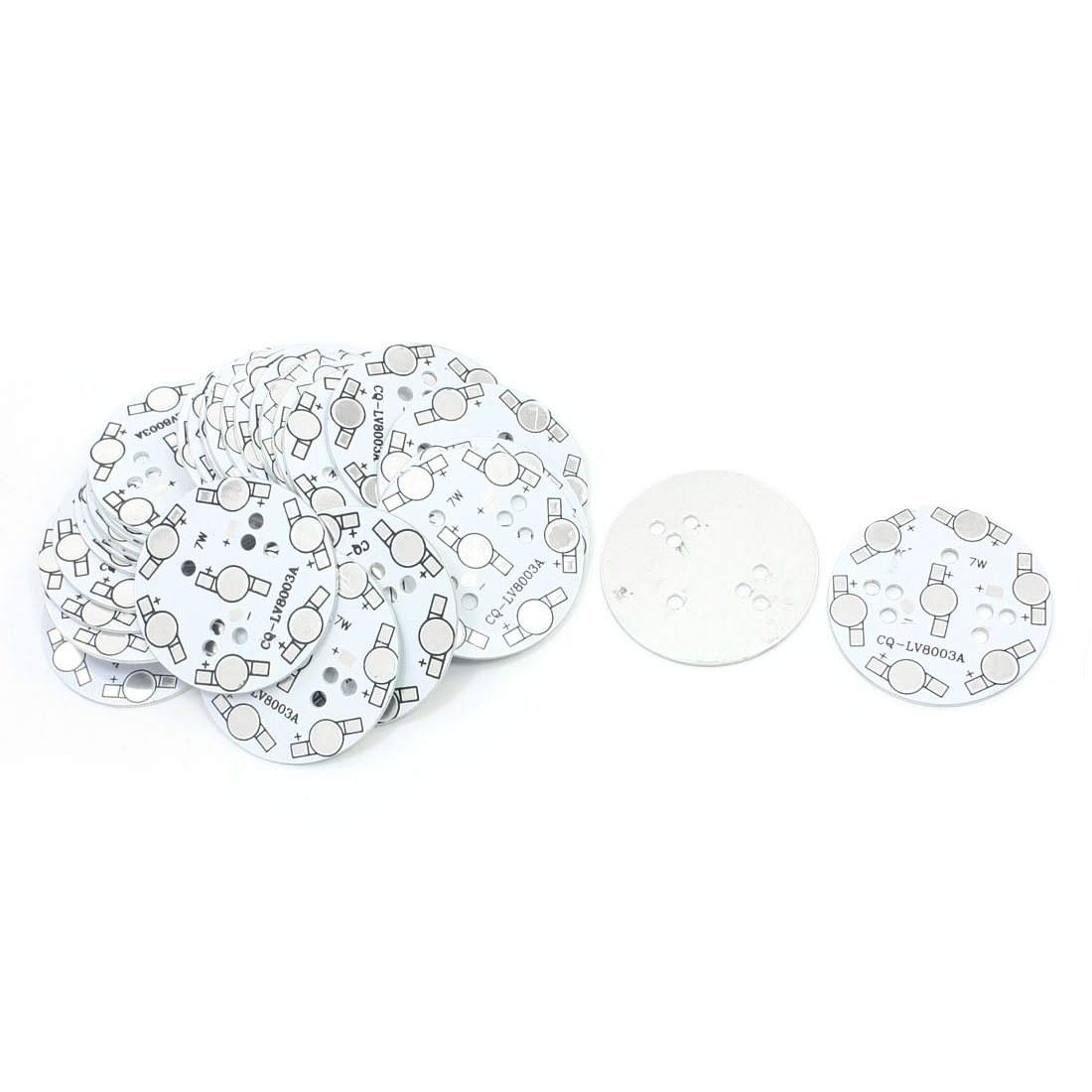 30PCS 50mm Circle Aluminum PCB Circuit Board for 7 x 1W/3W LED in Series