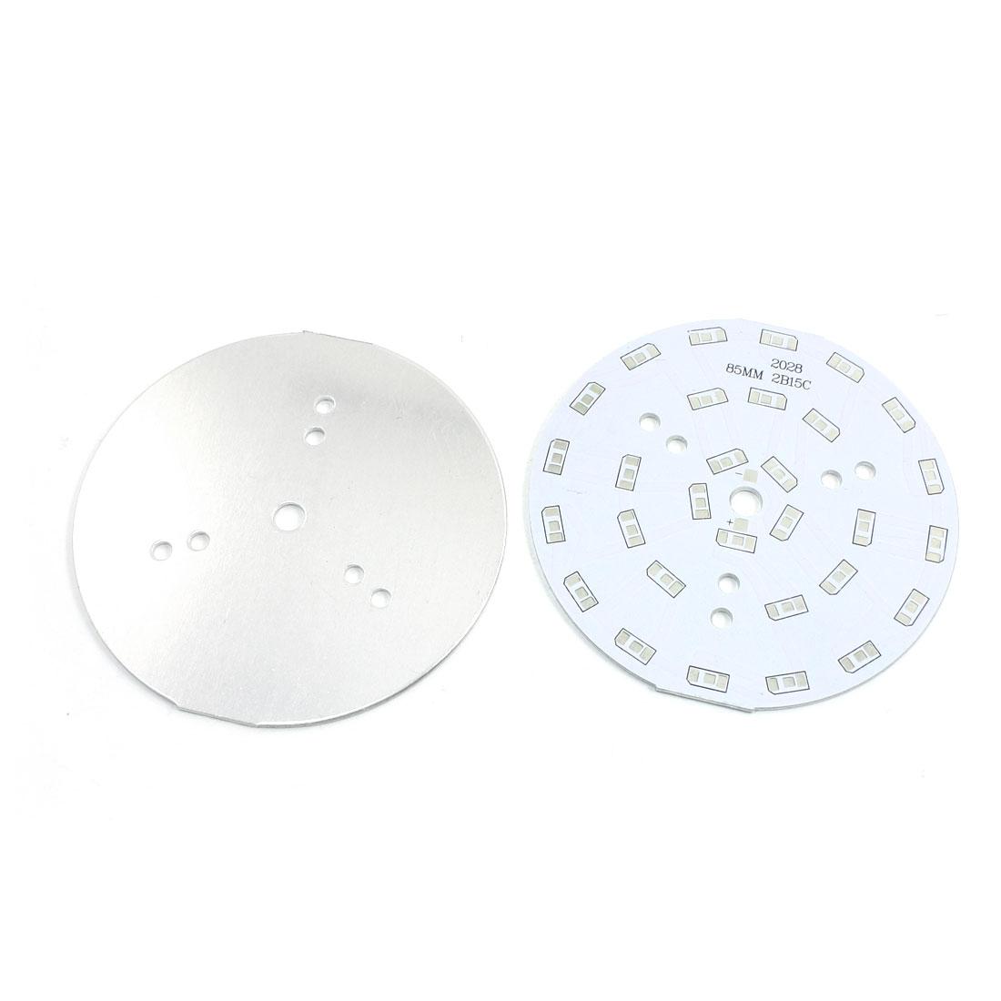 2Pcs 30 x 1/2W 5730 SMD LED High Power DIY Circle Aluminum PCB Circuit Board 85mm Diameter