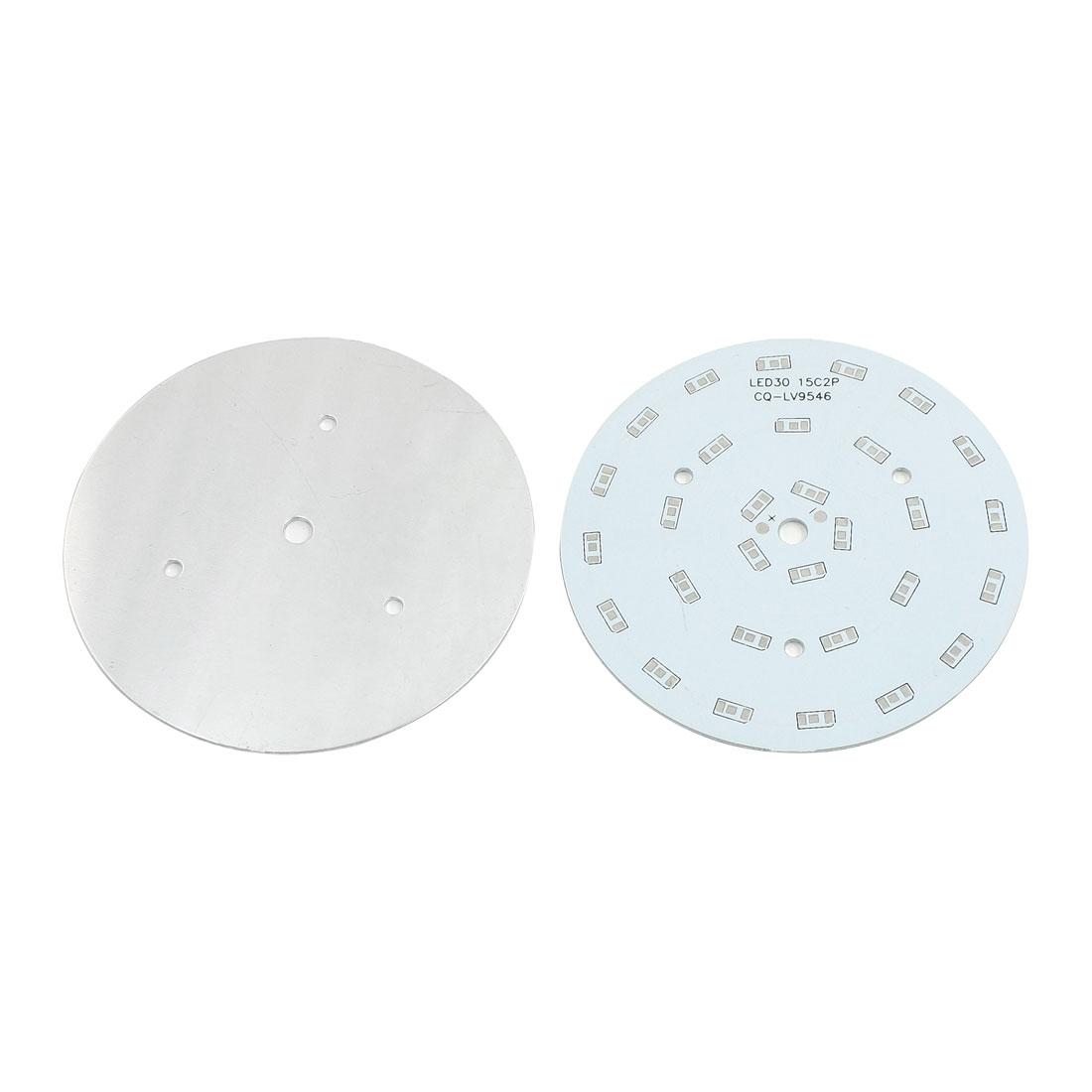 2Pcs 30 x 1/2W 5730 SMD LED High Power DIY Circle Aluminum PCB Circuit Board 100mm Diameter