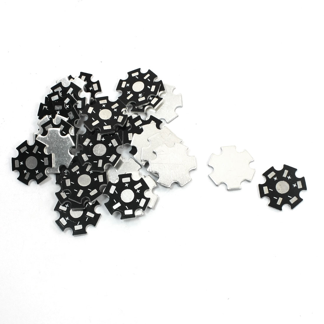 30pcs 20mm Black Printed Star Shaped Aluminum PCB Circuit Board for 1 x 1W/3W LED in Series