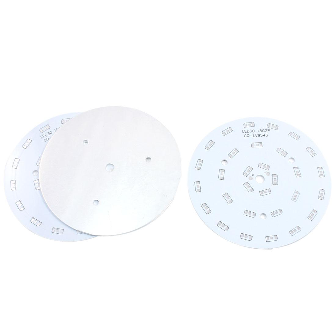 3Pcs 30 x 1/2W 5730 SMD LED High Power DIY Circle Aluminum PCB Circuit Board 100mm Diameter