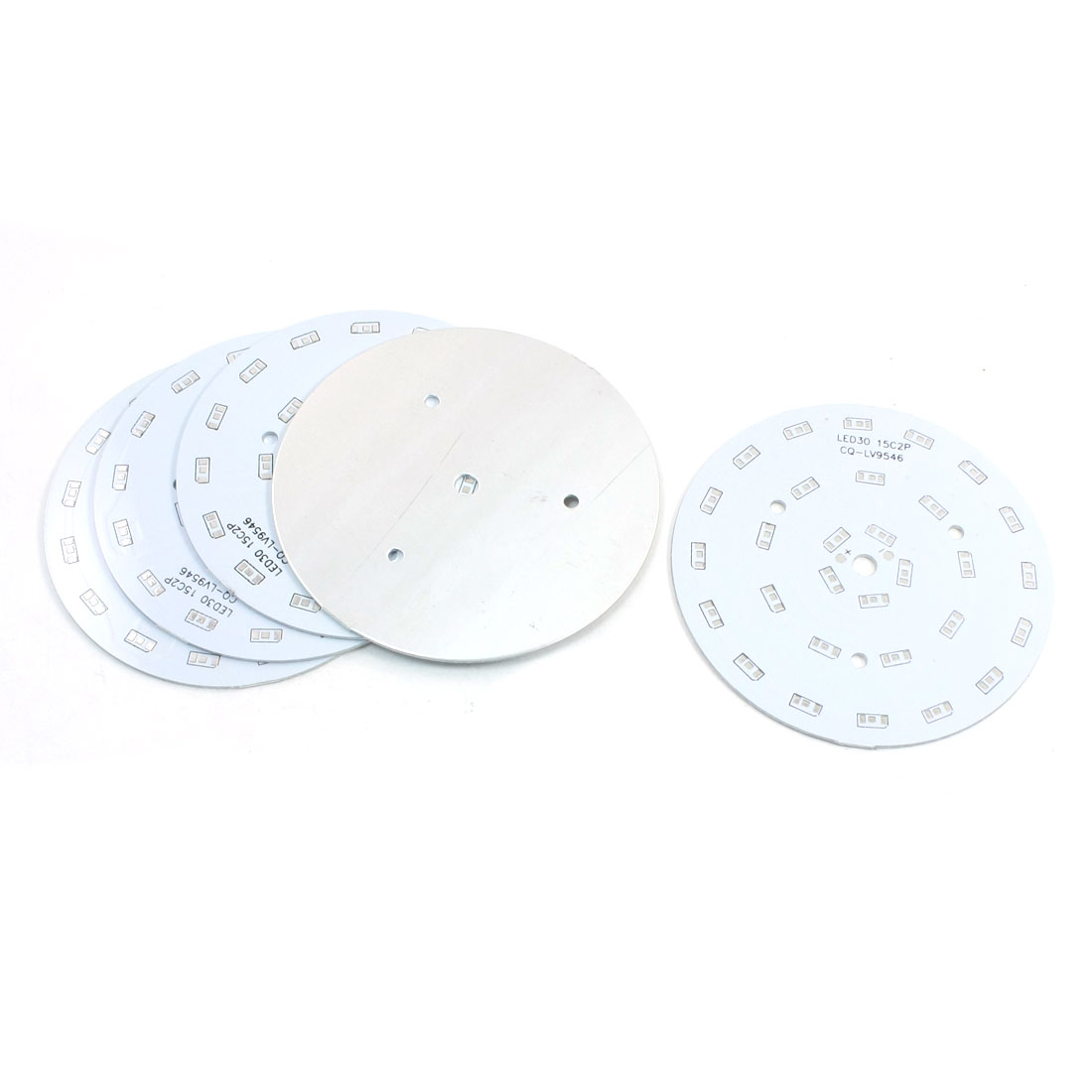 5Pcs 30 x 1/2W 5730 SMD LED High Power DIY Circle Aluminum PCB Circuit Board 100mm Diameter