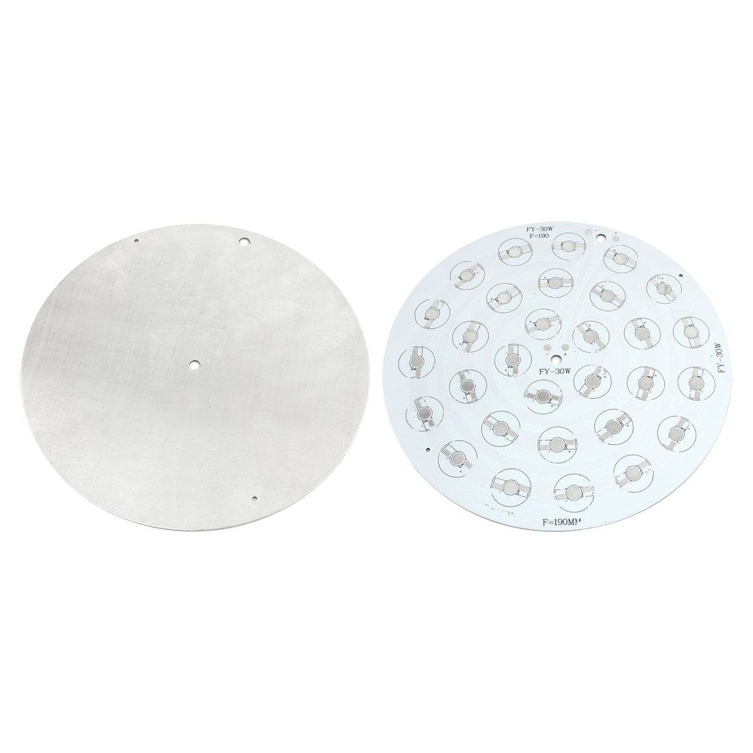 2Pcs 30 x 1W 3W LED High Power Circle Aluminum PCB Circuit Board 190mm Diameter