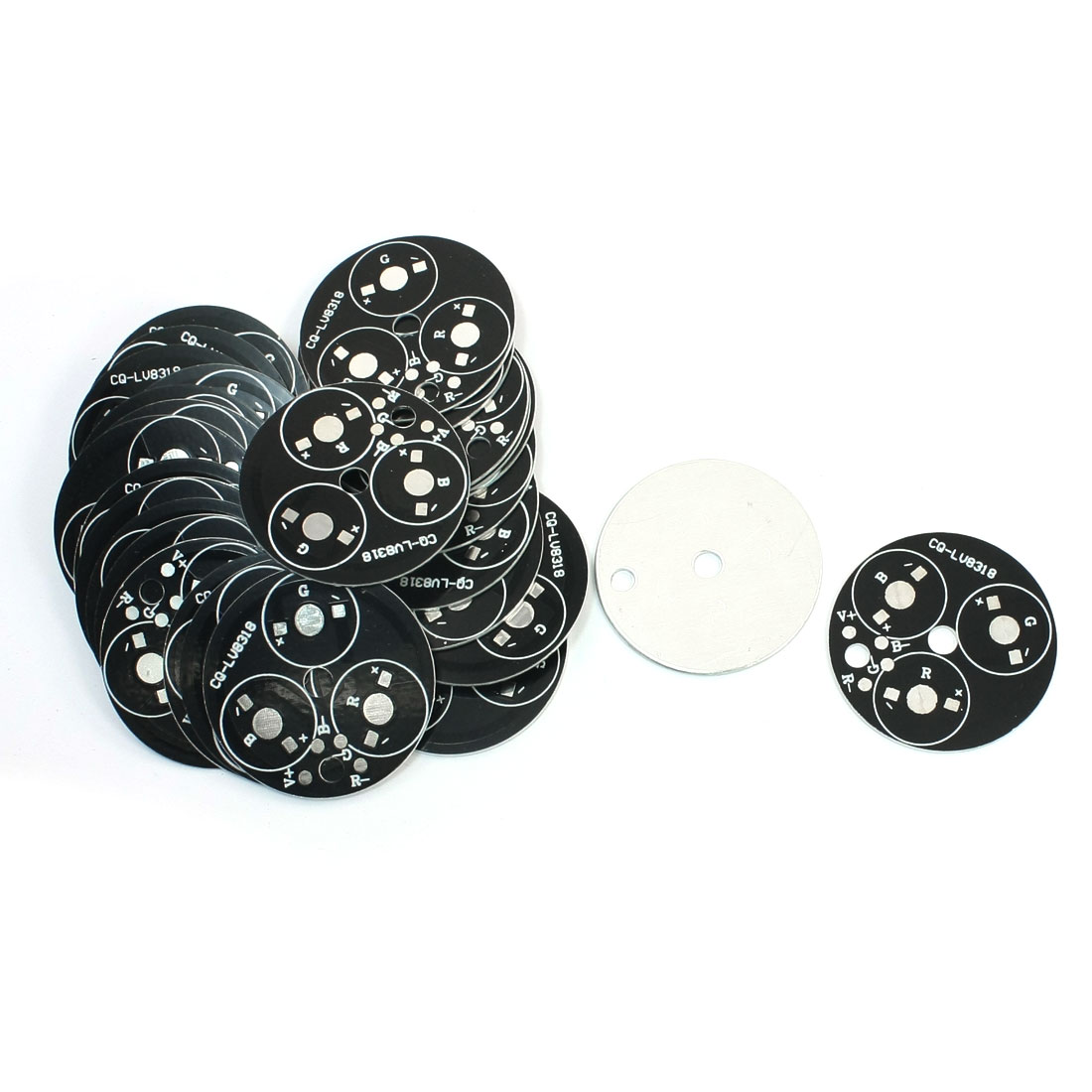 30 Pcs 49mm Diameter Circle Aluminum Base Plate PCB Circuit Board for 3 x 1W/3W RGB LEDs Bulb