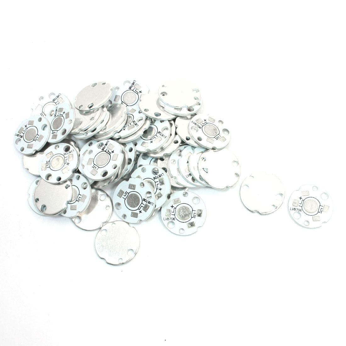 50 Pcs 20mm Diameter Aluminum Base Plate PCB Circuit Board for 1 x 1W/3W High Power LEDs Bulb