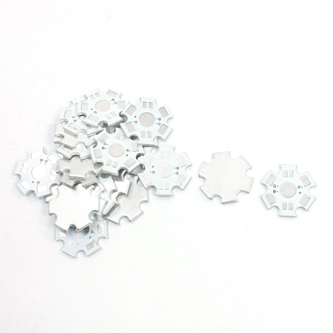 20pcs 20mm Aluminum Star Base PCB Circuit Board DIY for 1 x 1W/3W High Power RGB LED in Series